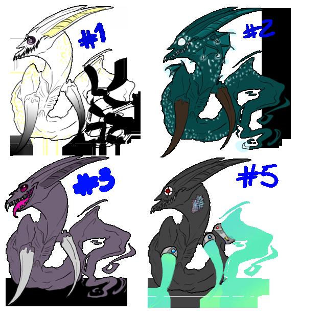Adoptable Sheet 4: OVER by psyco-dragon