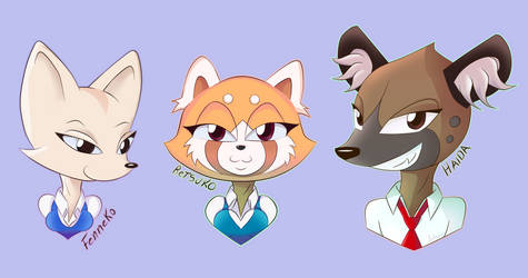 Aggretsuko - fan art by 1ndigoCat