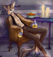 Posing maybe  - Commission by 1ndigoCat