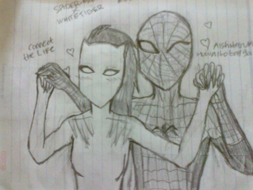 Ultimate spiderman white tiger and spiderman kiss - photo#9