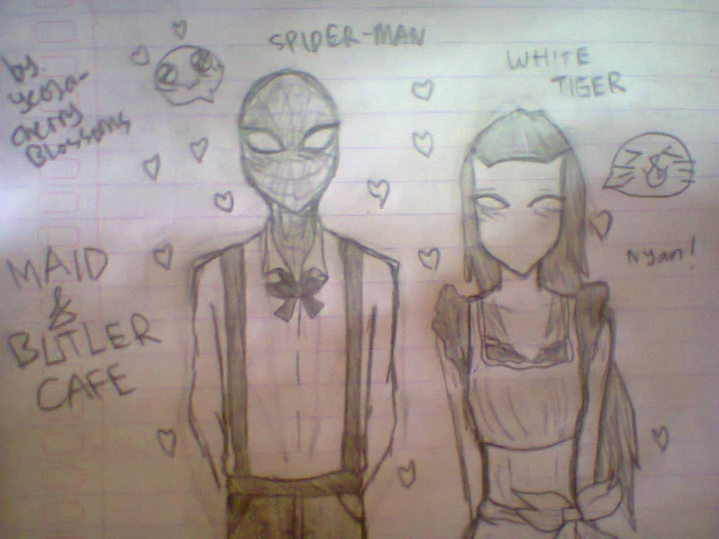 Ultimate spiderman white tiger and spiderman kiss - photo#22