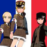 GIRLS und Panzer BC Freedom High School Colour