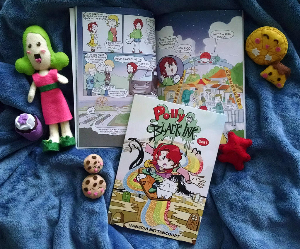 Polly Book I and Felt Display Artist Alley
