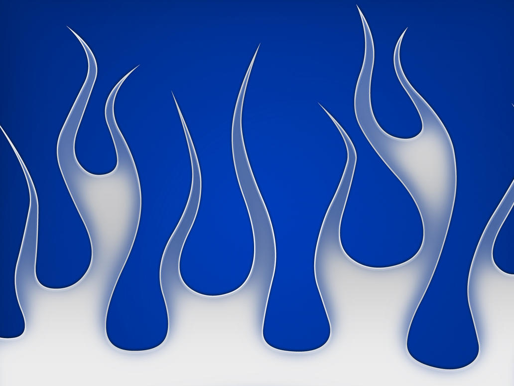 Flames - silver blue by jbensch