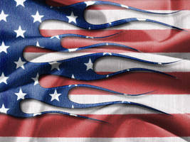 American Flag Flames