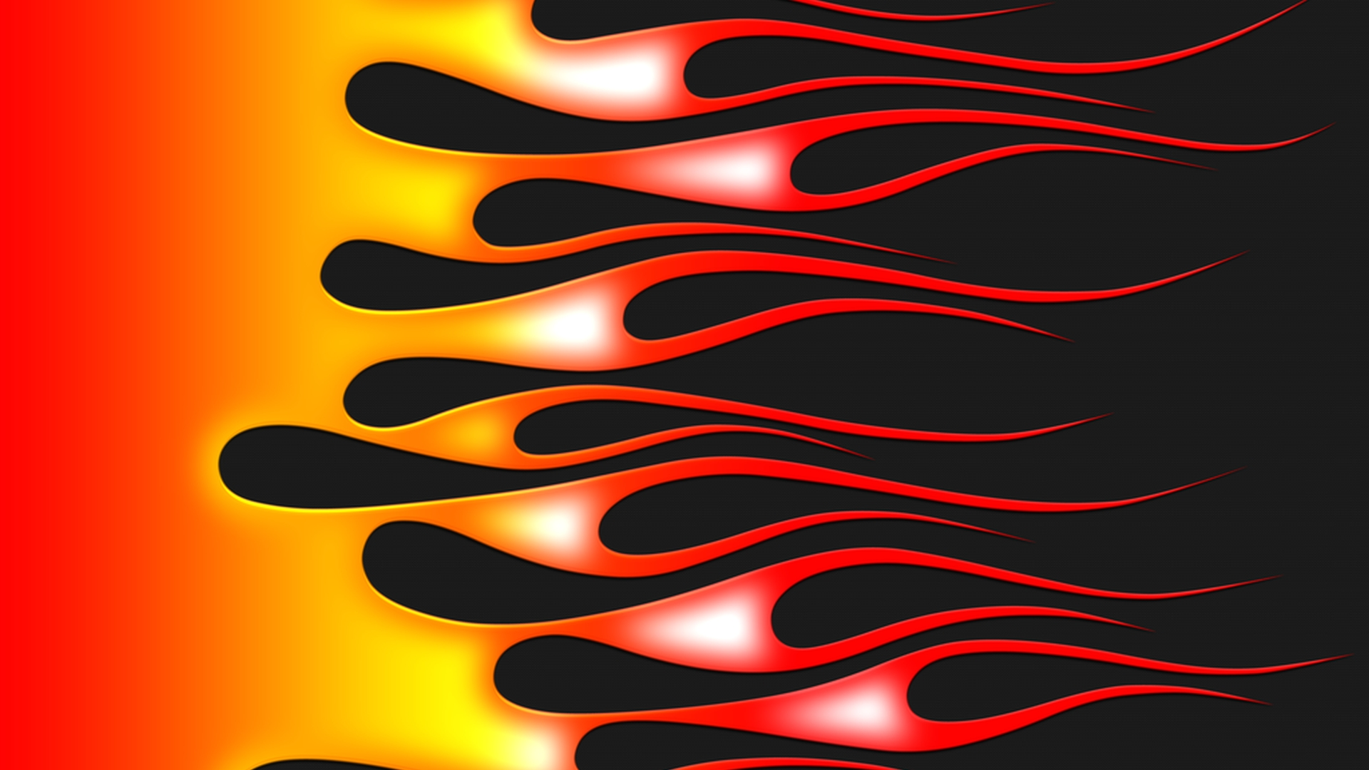 Flames - hot rod on carbon - widescreen by jbensch