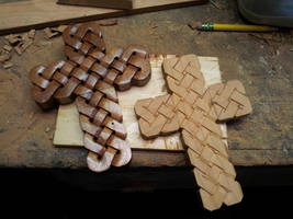 Carved Woven Crosses by jbensch