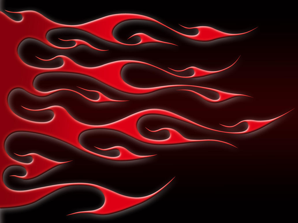 Red on Black Tribal by jbensch