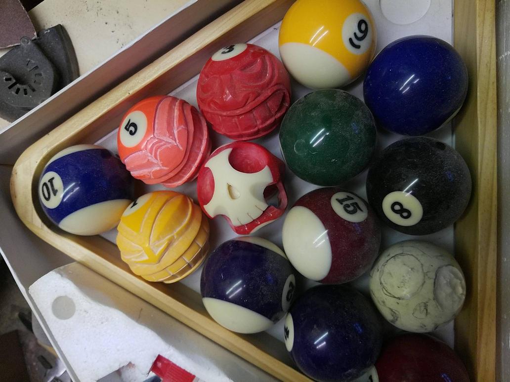 Found some billiard balls at a flea market - getti by jbensch