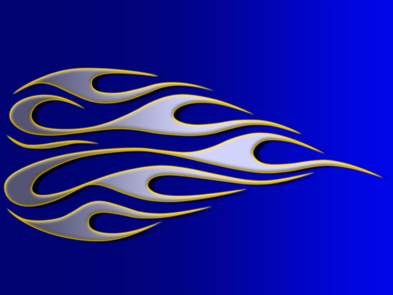 flames - silver on blue by jbensch