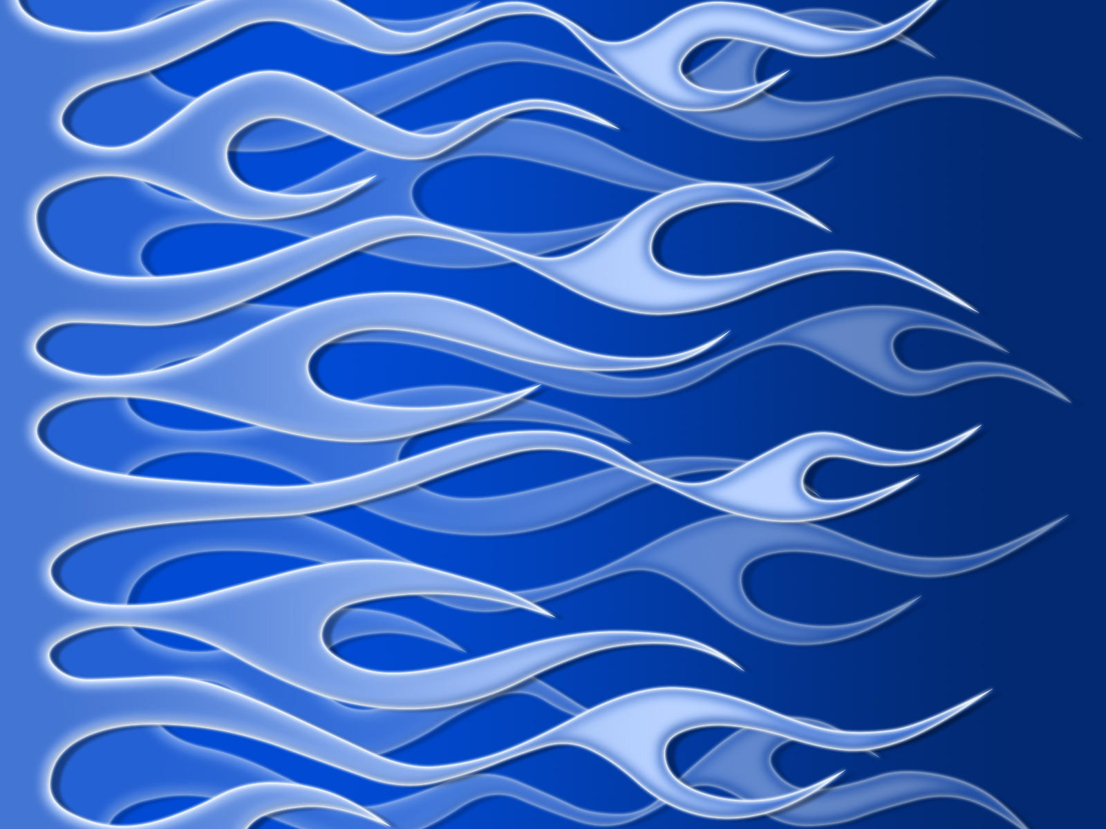 Flames - layered blue by jbensch