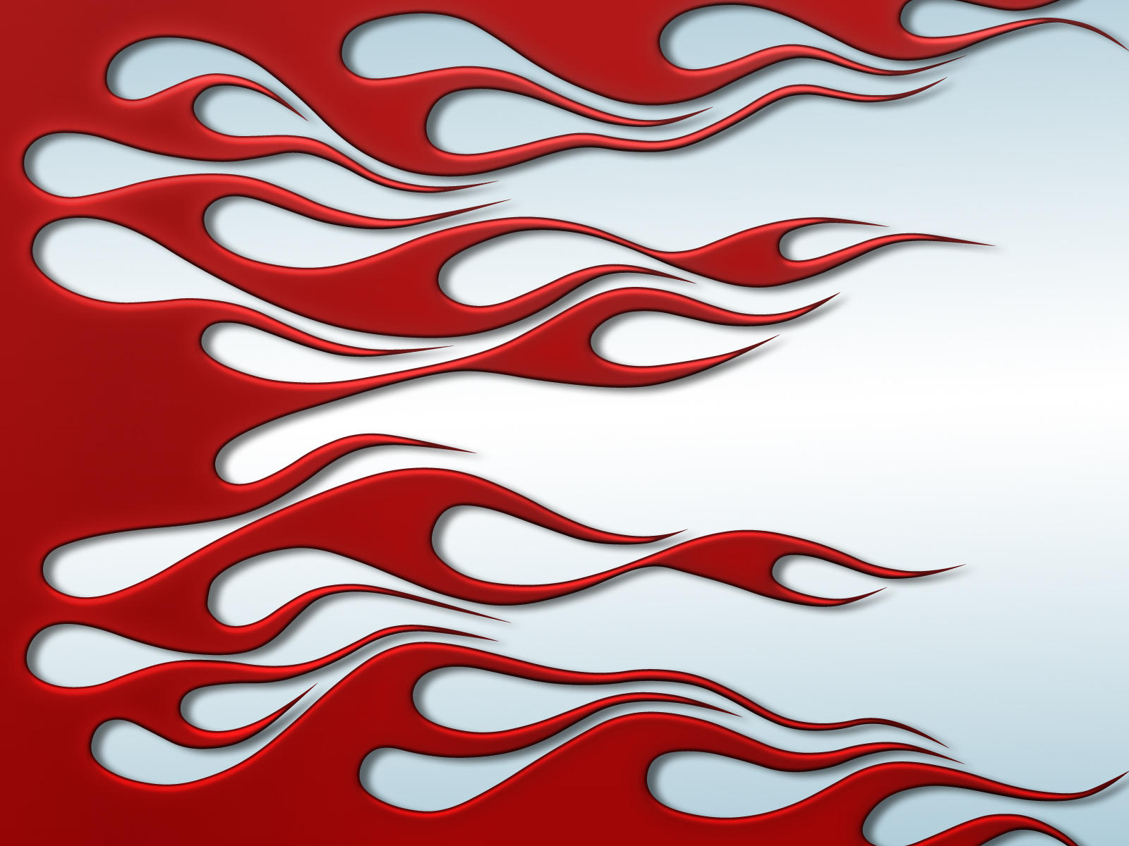 Flames - Red on white by jbensch
