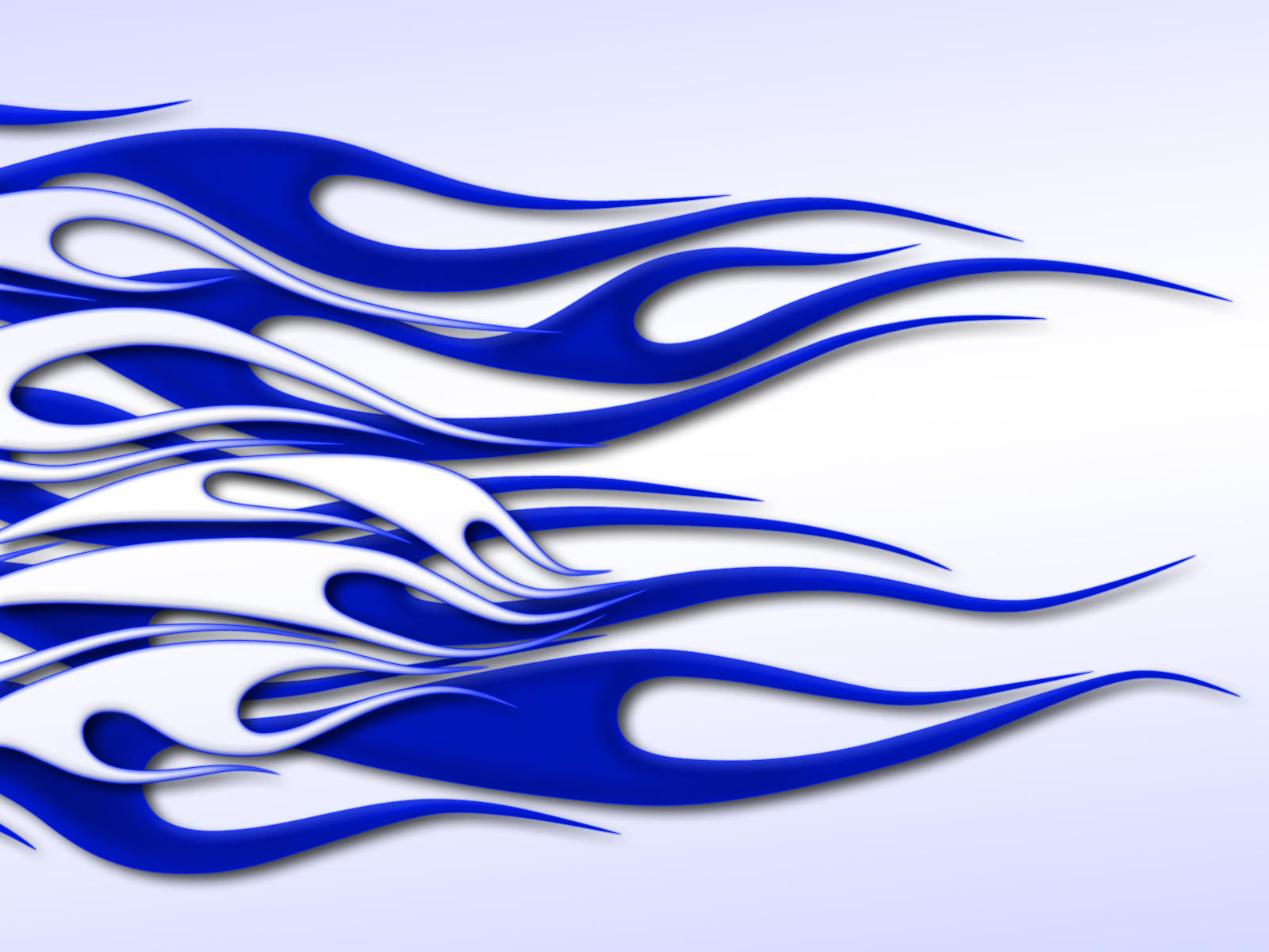 flames-white on blue on white by jbensch