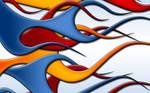 Flames - multicolor widescreen