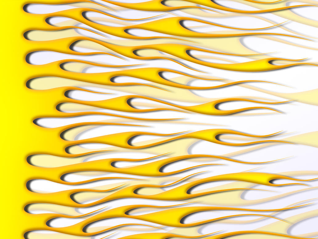 Flames - yellow on white by jbensch