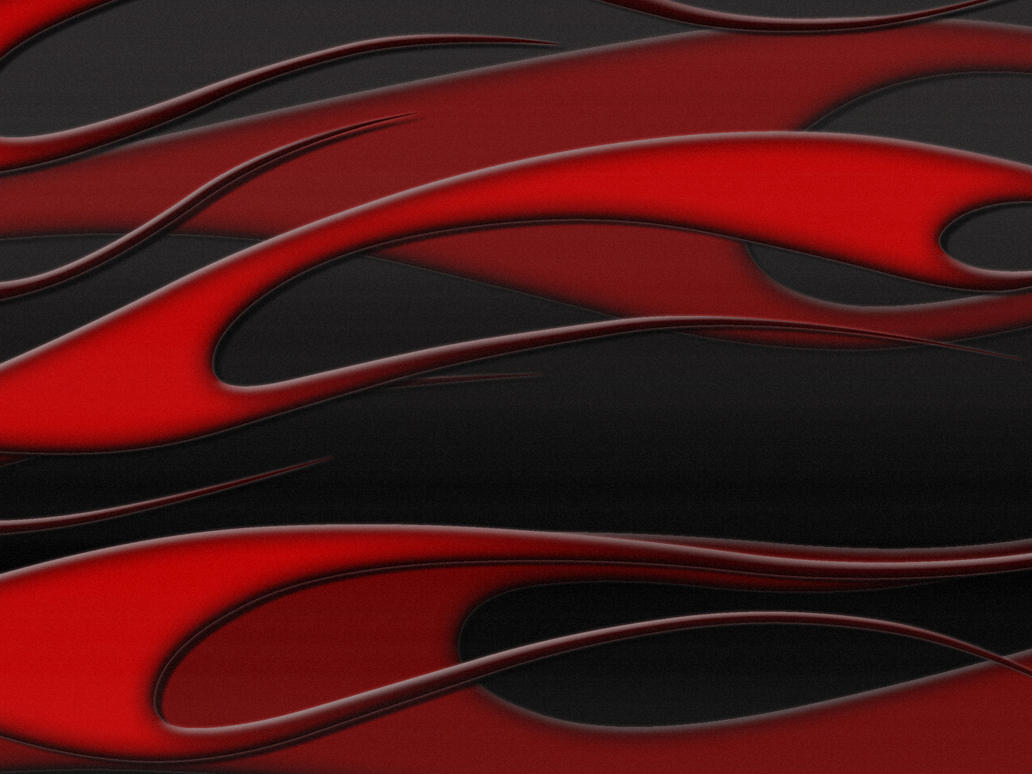 flames - red on black metallic by jbensch