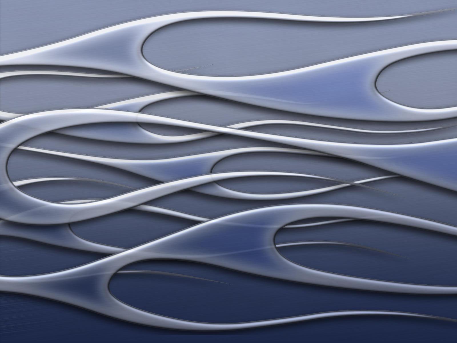 flames - blue metal by jbensch