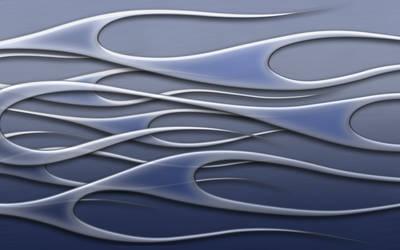 flames - blue metal wide