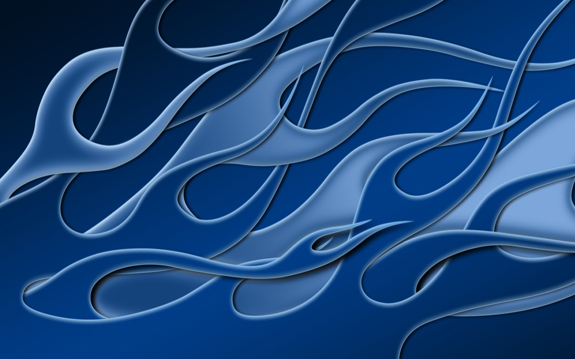 Flames - Blue Weave Widescreen by jbensch