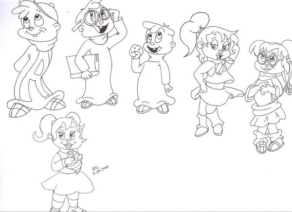 Chipmunks And Chipettes By Spongefox On DeviantArt