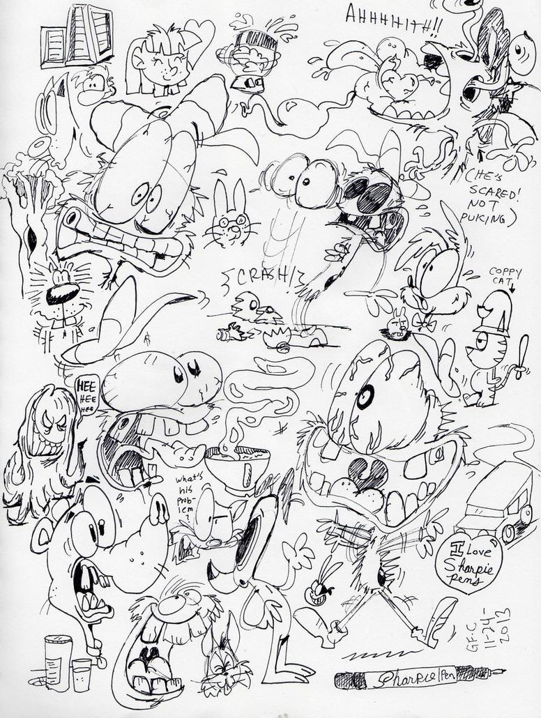 Sharpie Pen-Doodle strudle by spongefox