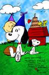 Snoopy-Schulz Birthday Card