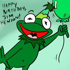Jim Henson Birthday-kermit Kard