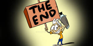 Lincoln Loud- Courage the Cowardly Dog End Card