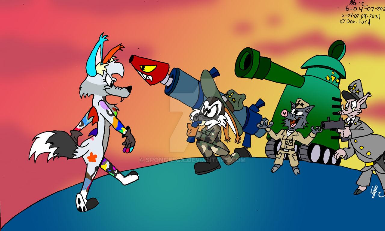 Don- Ford's Iris Wolf vs the Three War Pigs