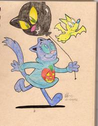 Cat n Bat- Black Cat Balloon