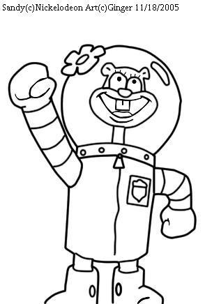 Sandy cheeks screenshot trace by spongefox on deviantart for Sandy cheeks coloring pages
