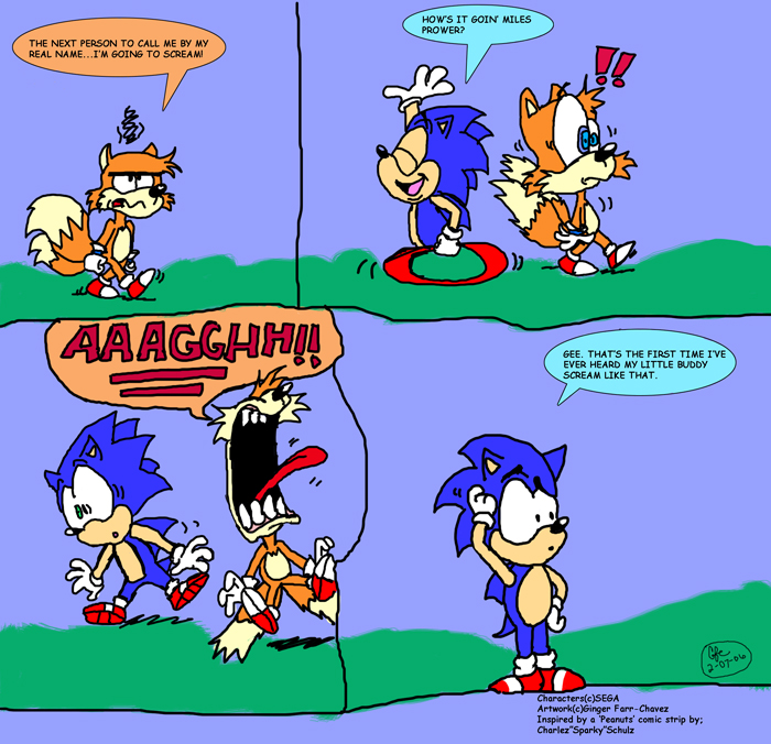 Sonic And Tails Comic By Spongefox On Deviantart