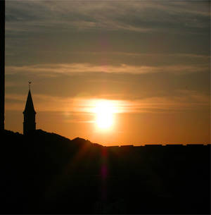 Ondergaande Zon