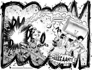 Steamroller Man Issue Three Double-page spread