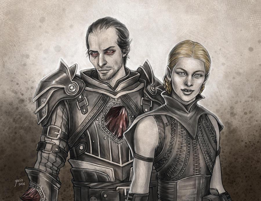Samson and Calpernia by slugette
