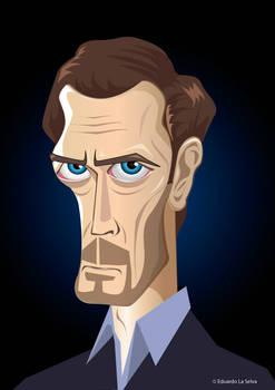 Vector Caricature Hugh Laurie