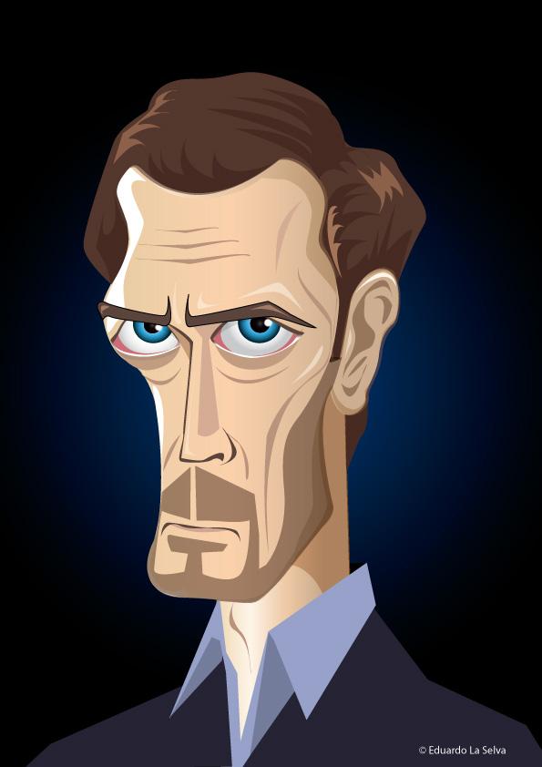 Vector Caricature Hugh Laurie by eduardolaselva