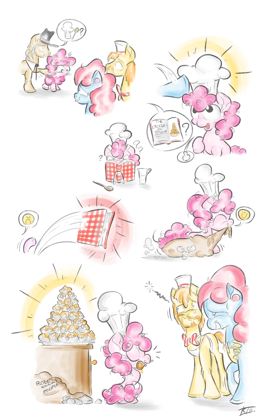 Pinkie's first cake by Keentao