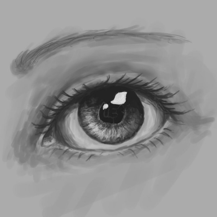 It is an image of Decisive Real Eye Drawing