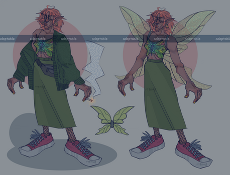 [OPEN] adoptable fairy character auction. N1