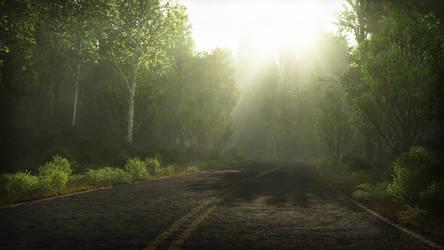 Summer's Road by Gannaingh32