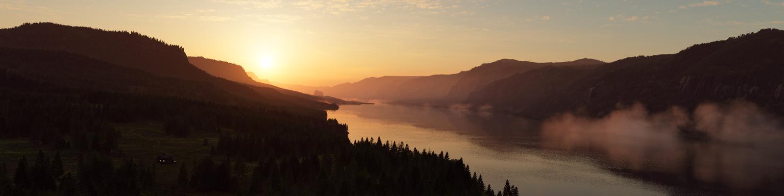 River Valley Sunrise by Gannaingh32