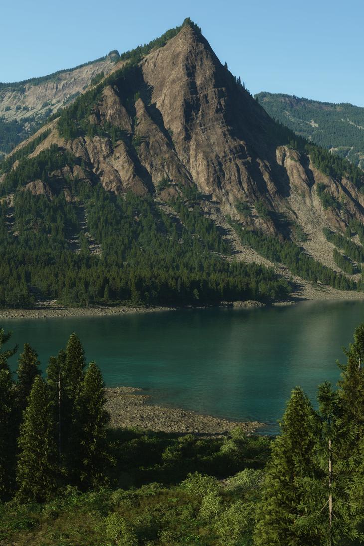 Terragen Mountain Side by Gannaingh32