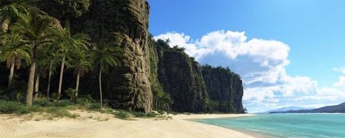 Tropical Cliffs by Gannaingh32