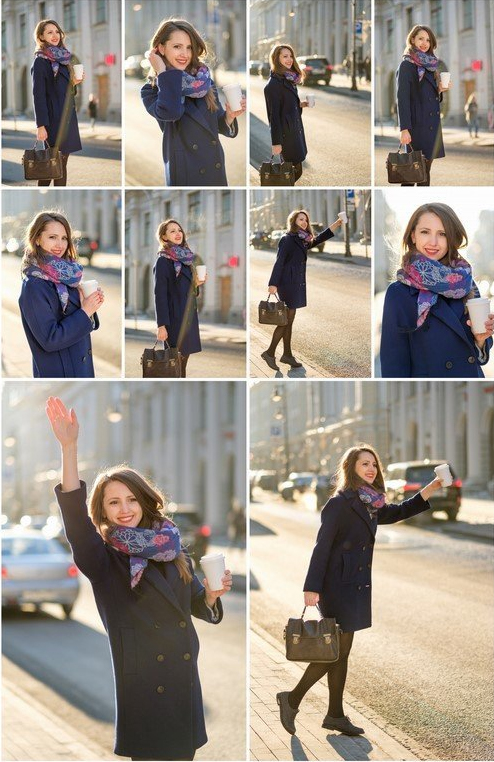 Young woman on the street  by PSD-stocks999