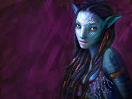Avatar  Neytiri PAINTING VIDEO by ZombieSandwich