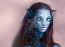 Avatar Girl Close