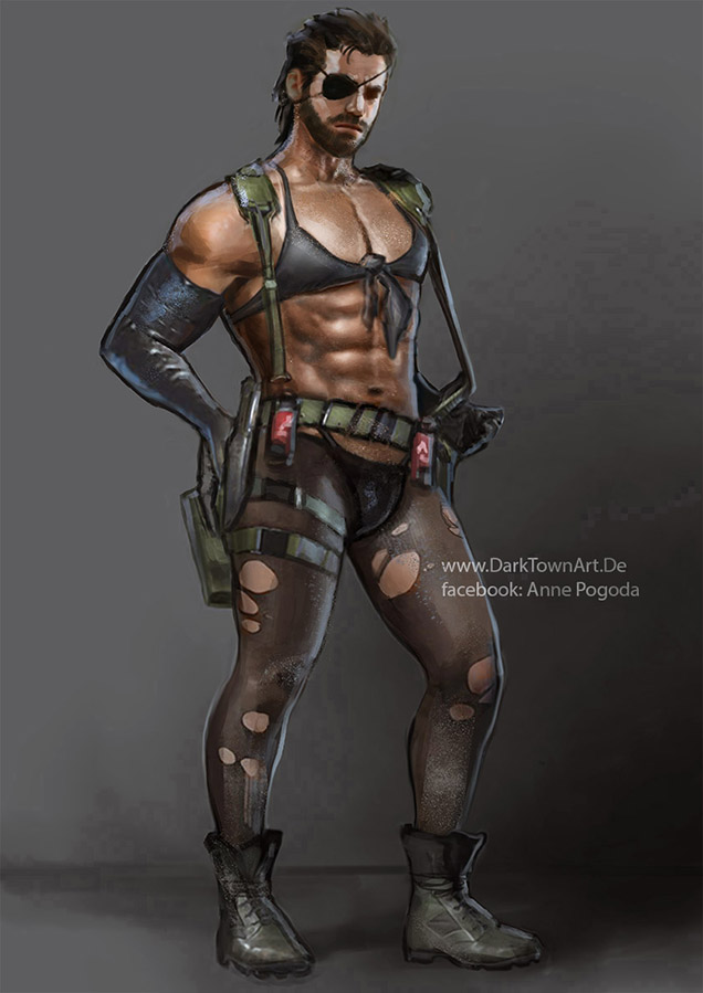 Metal Gear Solid V: Big Quiet Boss XD by ZombieSandwich
