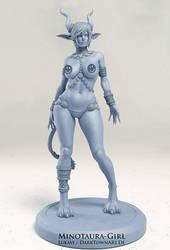 Minotaura-Girl Figurine by ZombieSandwich
