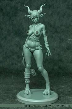 Minotaura-Girl Figurine (Raw Version)